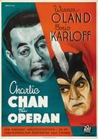 """Charlie Chan at the Opera Swedish - 11"""" x 17"""""""