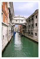 View From Bridge of Sighs. S.Marco Fine Art Print