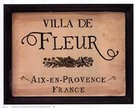 Villa de Fleur Fine Art Print