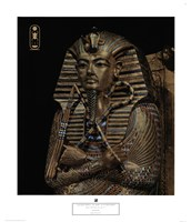 Golden Effigy of King Tutankhamen Fine Art Print