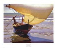 Fishing Boat, Spain Framed Print