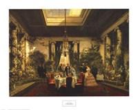 La Salle a Manger de la Princesse Mathilde Fine Art Print