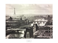 River Seine and the City of Paris Framed Print