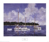 """Moored Cat Boats by Ray Ellis - 30"""" x 26"""""""
