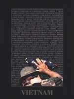 Vietnam Memory Wall Fine Art Print