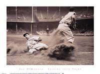 Joe DiMaggio Sliding Into Third Fine Art Print