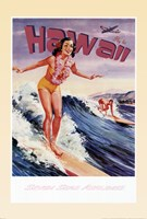 Fly to Hawaii Framed Print