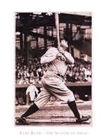 Babe Ruth  The Sultan of Swat Framed Print