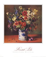 Chinese Florals with Plums Fine Art Print