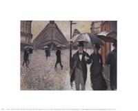 Paris, a Raiiny Day, 1877 Fine Art Print