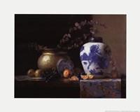Blue China Vase Fine Art Print