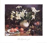 Lilies and Peaches Fine Art Print