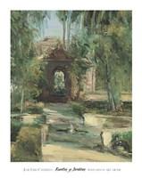 Fuentes y Jardines Fine Art Print