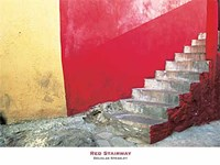 Red Stairway Fine Art Print