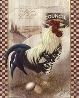 "Checkered Past Rooster by Alma Lee - 9"" x 11"""