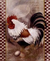 "Coat Of Many Colors Rooster by Alma Lee - 9"" x 11"""