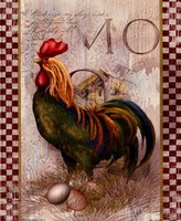 "Green Pastures Rooster by Alma Lee - 9"" x 11"""