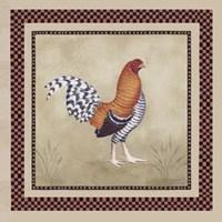 Bordeaux Rooster I Fine Art Print