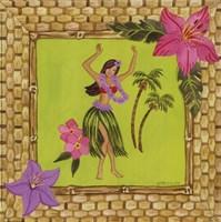 Tiki Girl I Framed Print