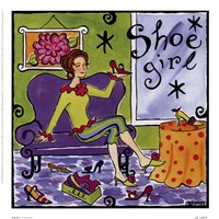 Shoe Girl Framed Print