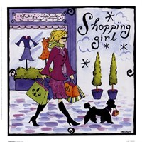 Shopping Girl Fine Art Print