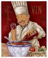 """Wine Chef IV by Shari Warren - 8"""" x 10"""""""