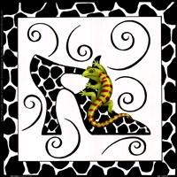 Shoe Gecko Framed Print