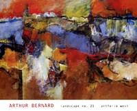"Landscape No. 21 by Arthur Bernard - 36"" x 29"""
