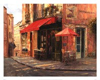 Hillside Cafe Fine Art Print