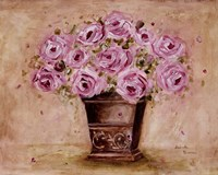 Classic Pink Roses Framed Print