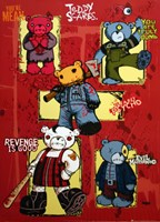 Teddy Scares Wall Poster