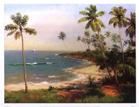 Tropical Coastline Fine Art Print