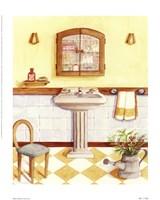 Capital decor - Yellow Checks Fine Art Print