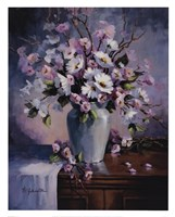 "Apple And Cherry Blossoms by Maxine Johnston - 24"" x 30"""