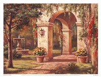 """17"""" x 13"""" Courtyard Pictures"""