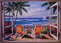 Tropical Terrace for Two Fine Art Print
