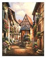 Village Court Fine Art Print