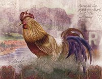 Blue Tail Rooster Fine Art Print