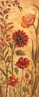 """Floral Tapestry I by Kate McRostie - 4"""" x 10"""""""