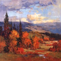 "Autumn Mountains by Kwang-Jin Park - 35"" x 35"", FulcrumGallery.com brand"
