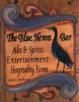 The Blue Heron Bar Framed Print