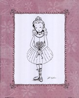 "Pink Ballerina 2 by Shari Warren - 8"" x 10"""