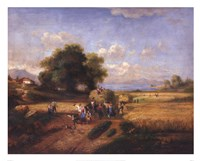 "Harvest Celebration by A. Weller - 30"" x 24"""