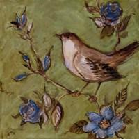 "Native Finch II by Susan Winget - 12"" x 12"", FulcrumGallery.com brand"