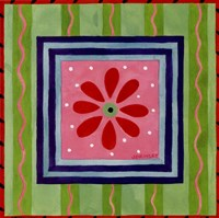 "Flower Power III by Jennifer Brinley - 10"" x 10"" - $9.49"