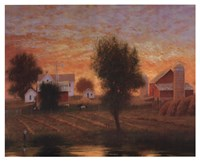"Midwest Farm Pond by Raymond Knaub - 21"" x 17"""