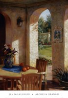 "Arches and Oranges by Jan McLaughlin - 27"" x 39"""