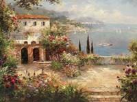 Mediterranean Villa Framed Print