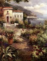 Villa's Garden Path Framed Print