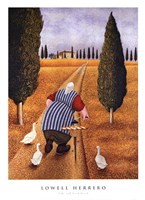 "Lady With Fresh Bread by Lowell Herrero - 20"" x 28"""